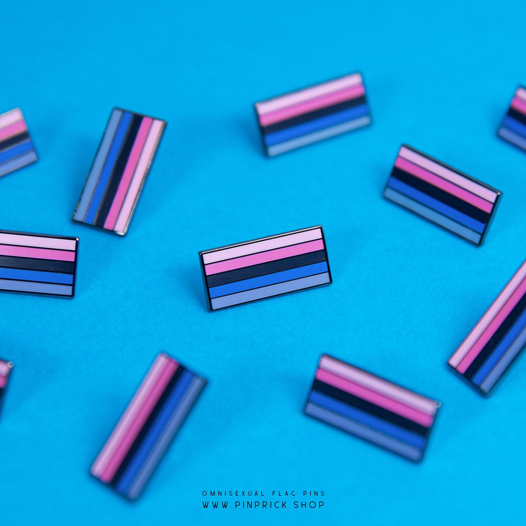 Omnisexual Pride Flag Pins Pride Accessory Badge Sticker Button