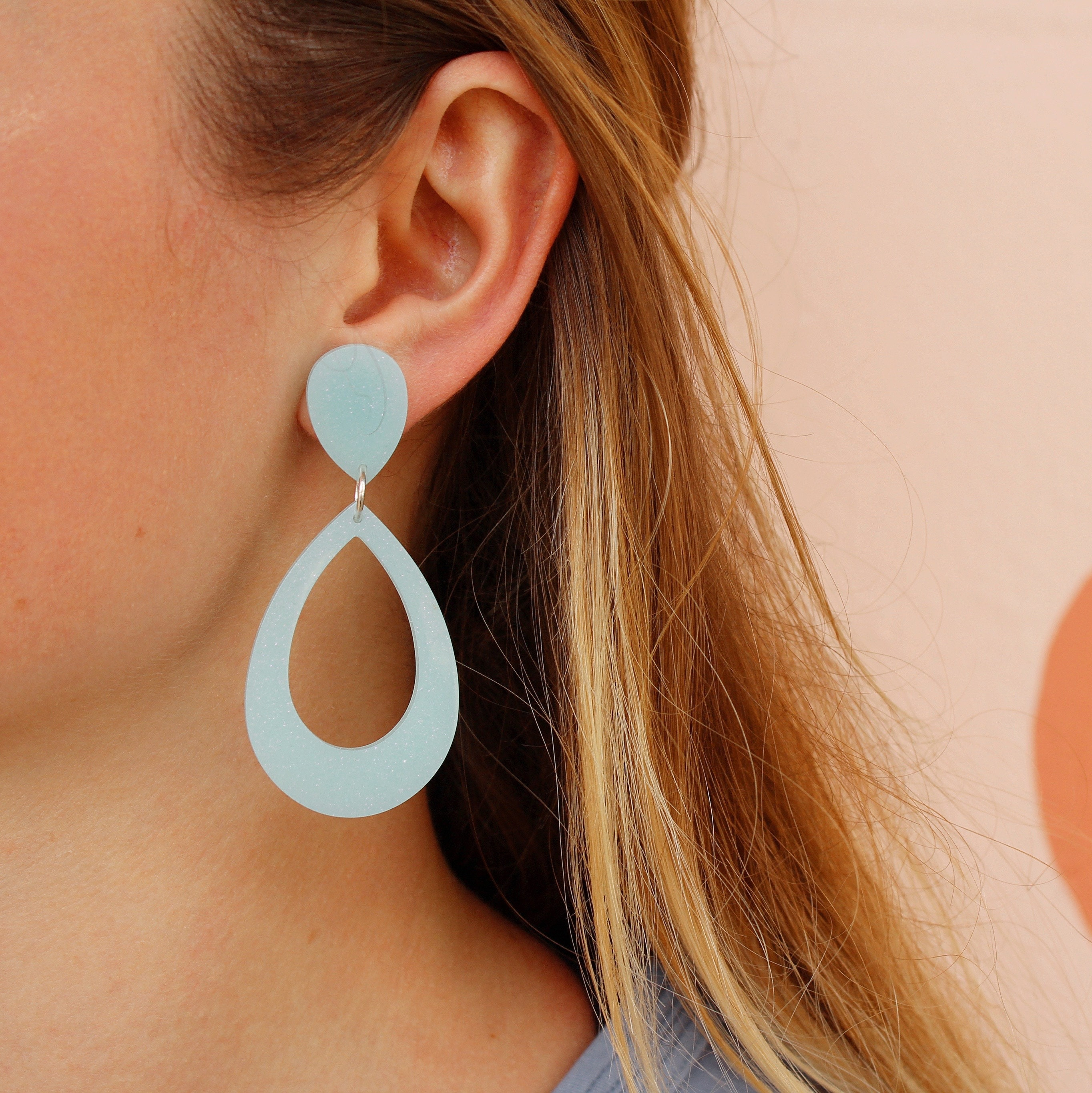 Sable Hoops in Mint by Cocos Musings