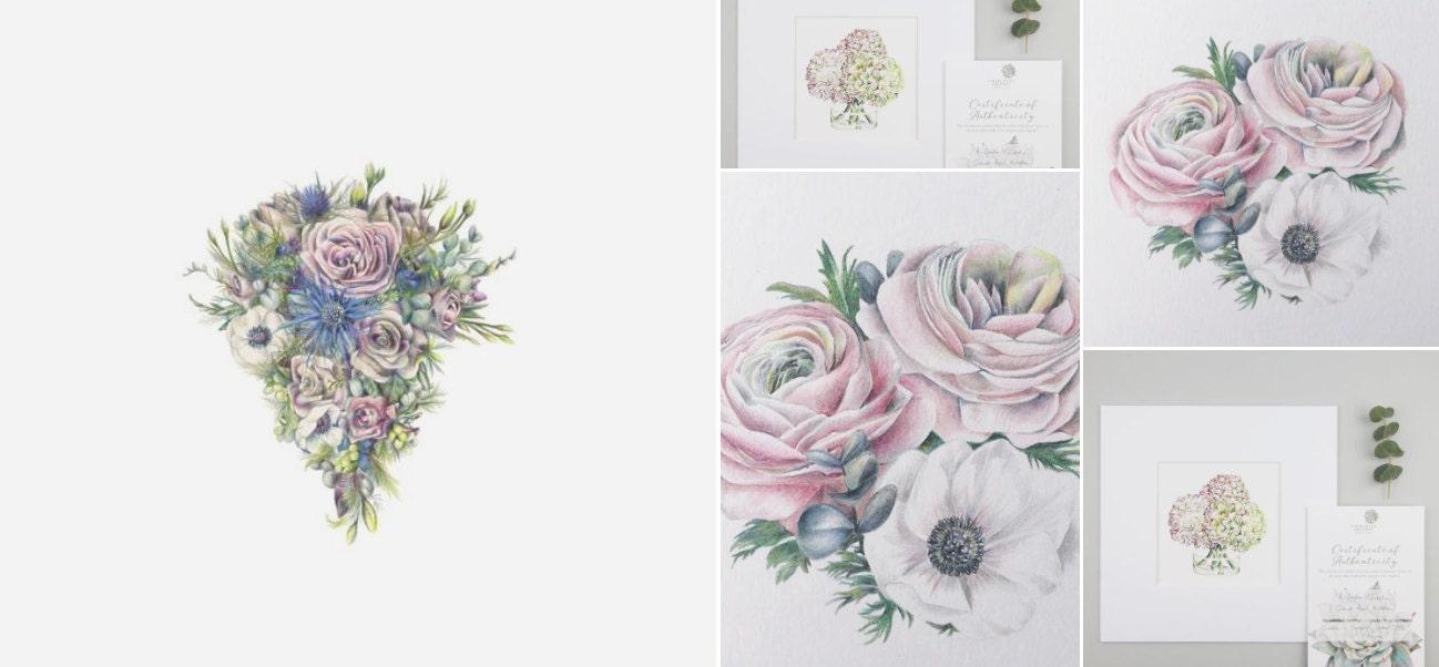 Charlotte Argyrou Illustration - Wedding Bouquet Illustration