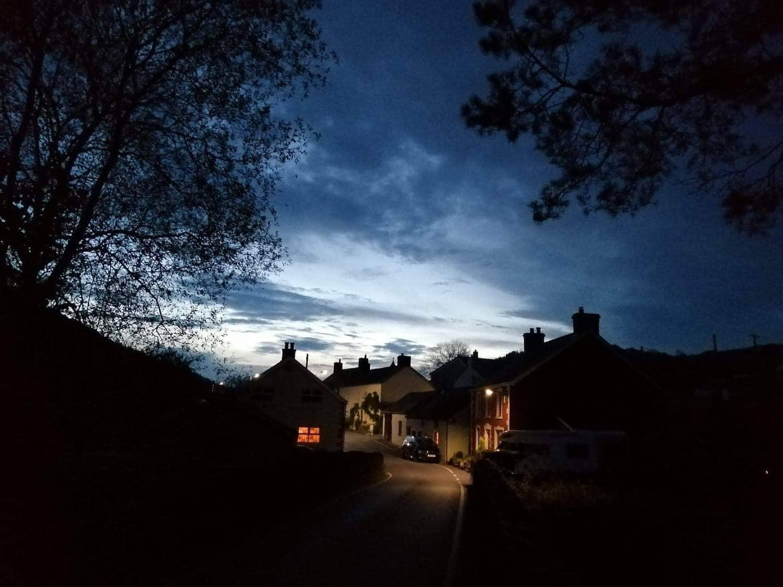 Abergorlech at night. Carmarthenshire, Wales