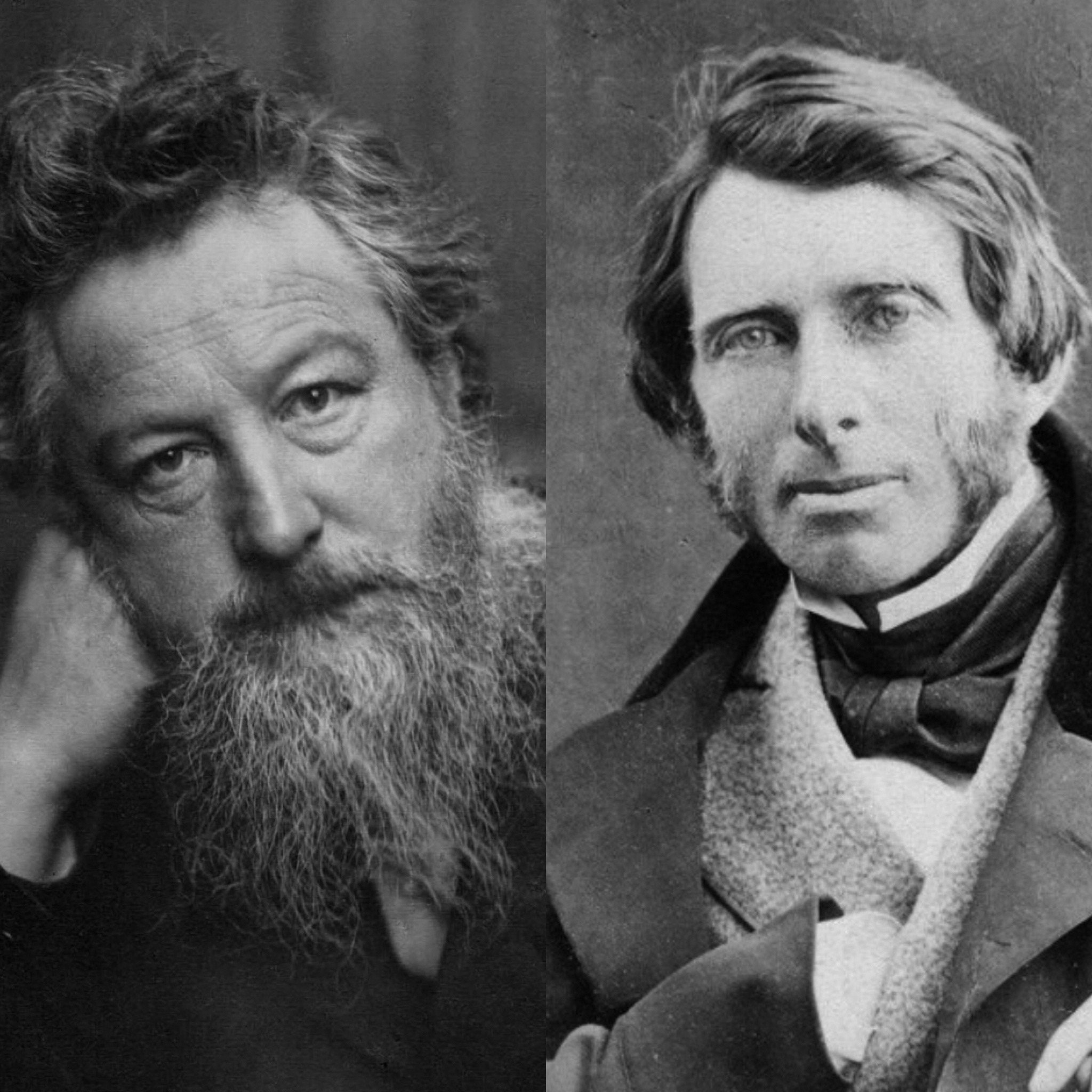 William Morris and John Ruskin - Gorlech inspiration