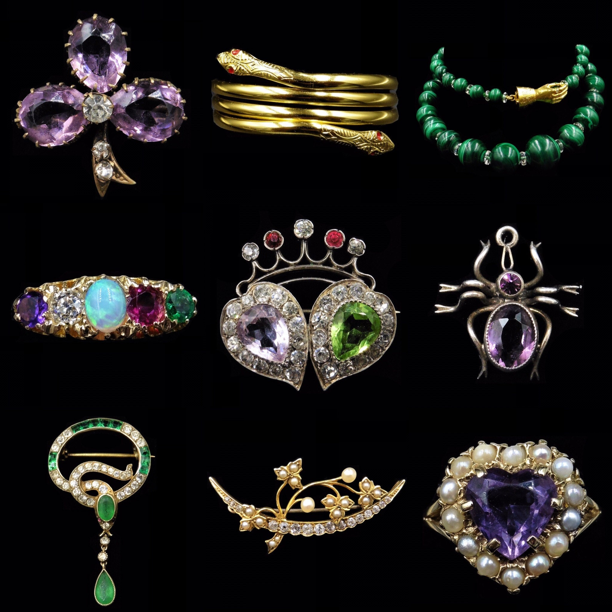 Collage of Symbolism in Jewellery