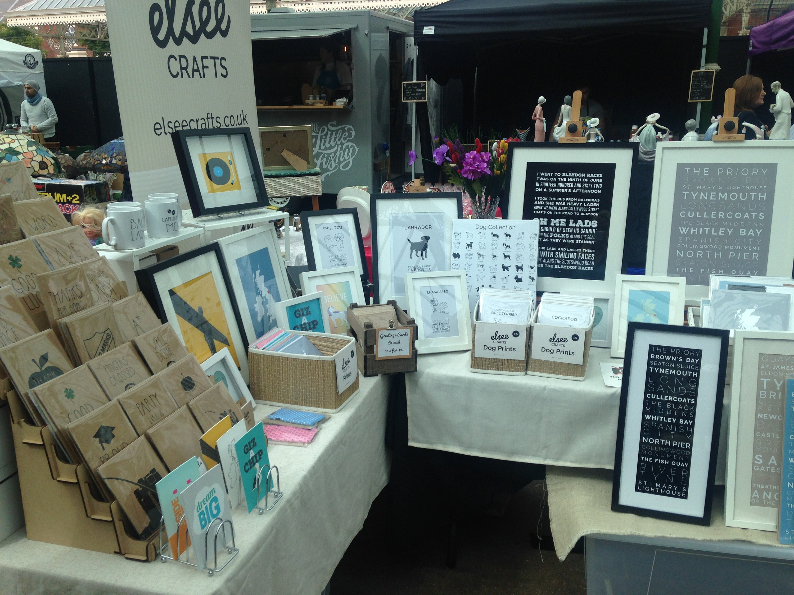 Our stall at Tynemouth Market