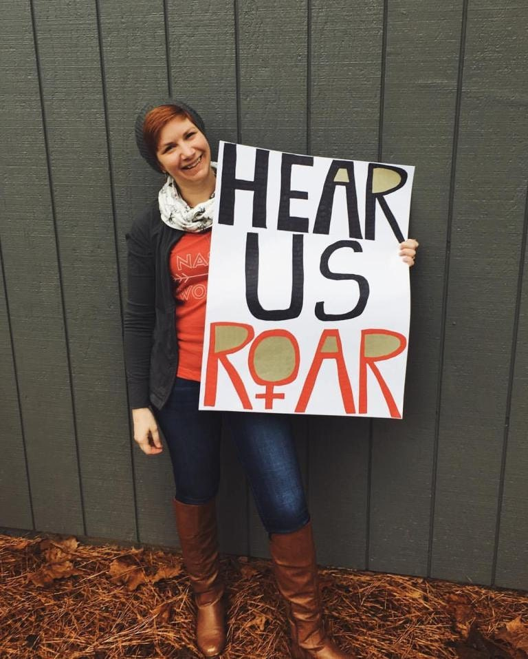 Hear us roar poster
