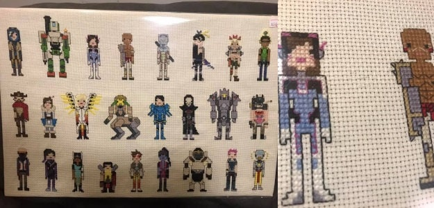 Overwatch cross stitch