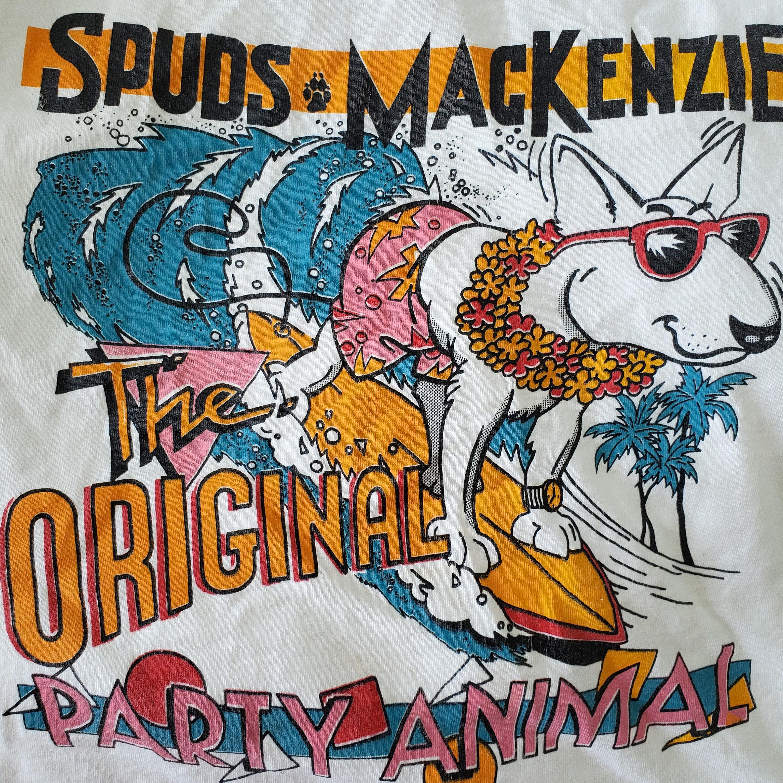 Fake Bootleg Vintage Spuds Mackenzie T-Shirt