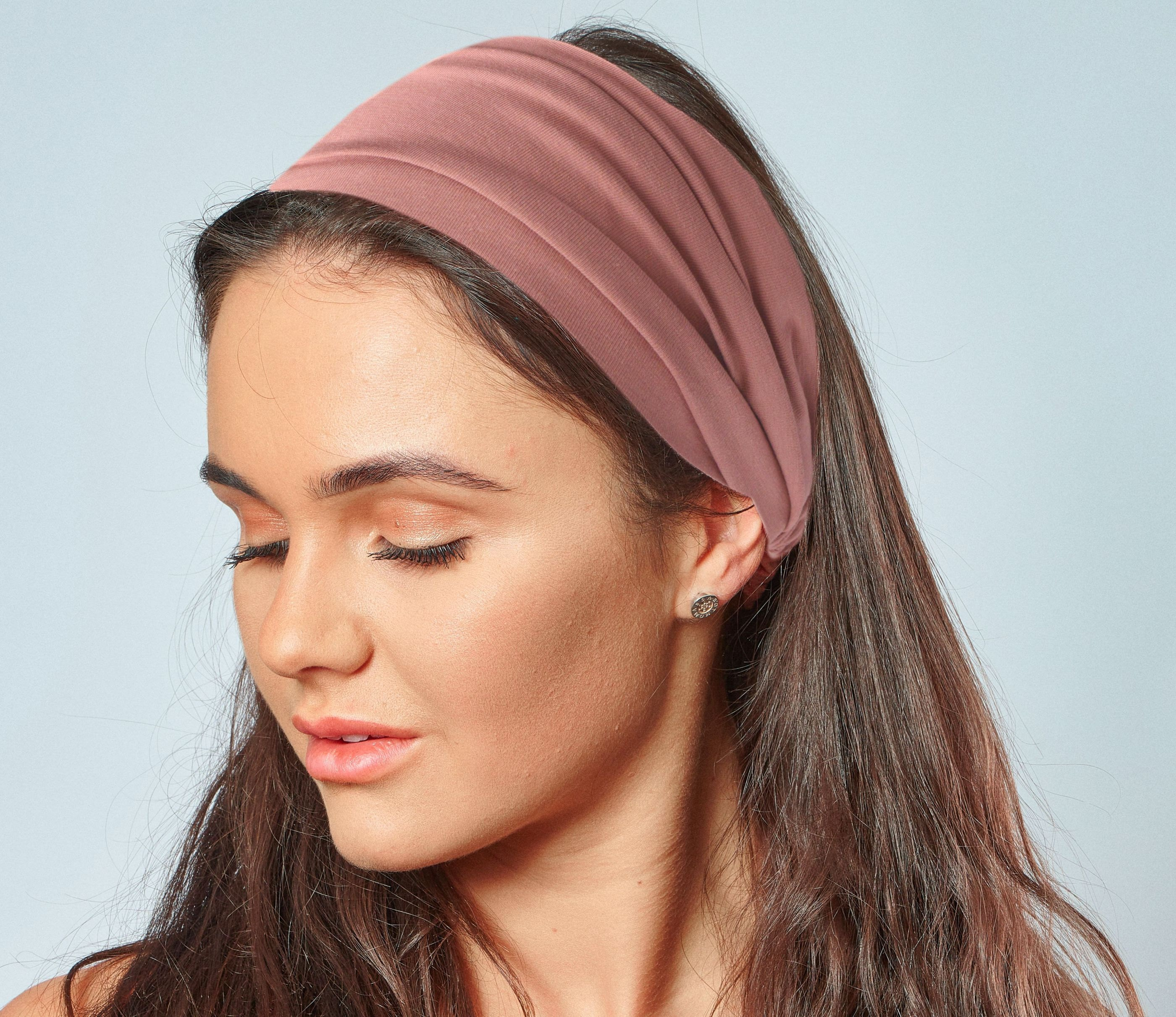 Dusky pink organic cotton headband