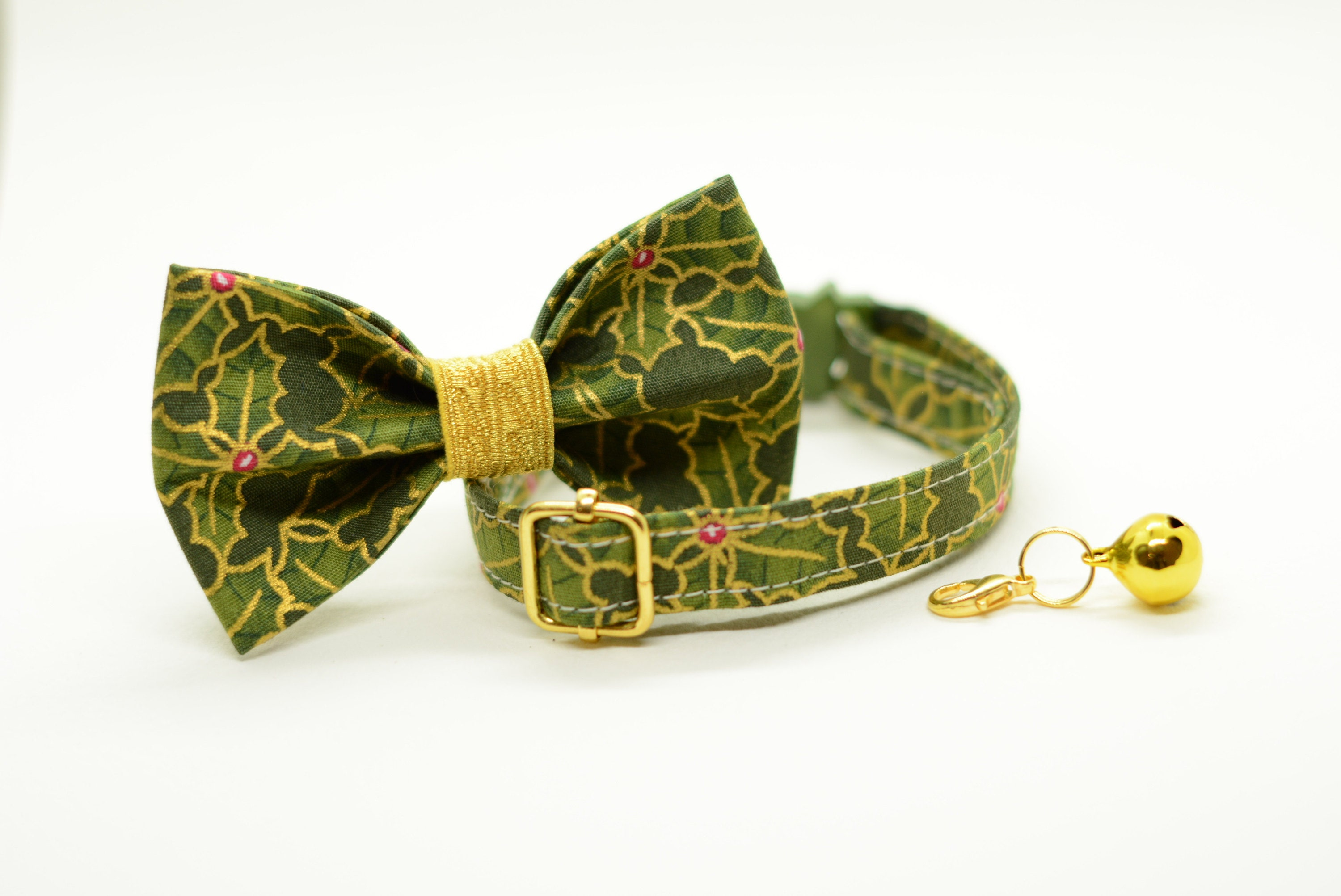 christmas collar bow tie cat