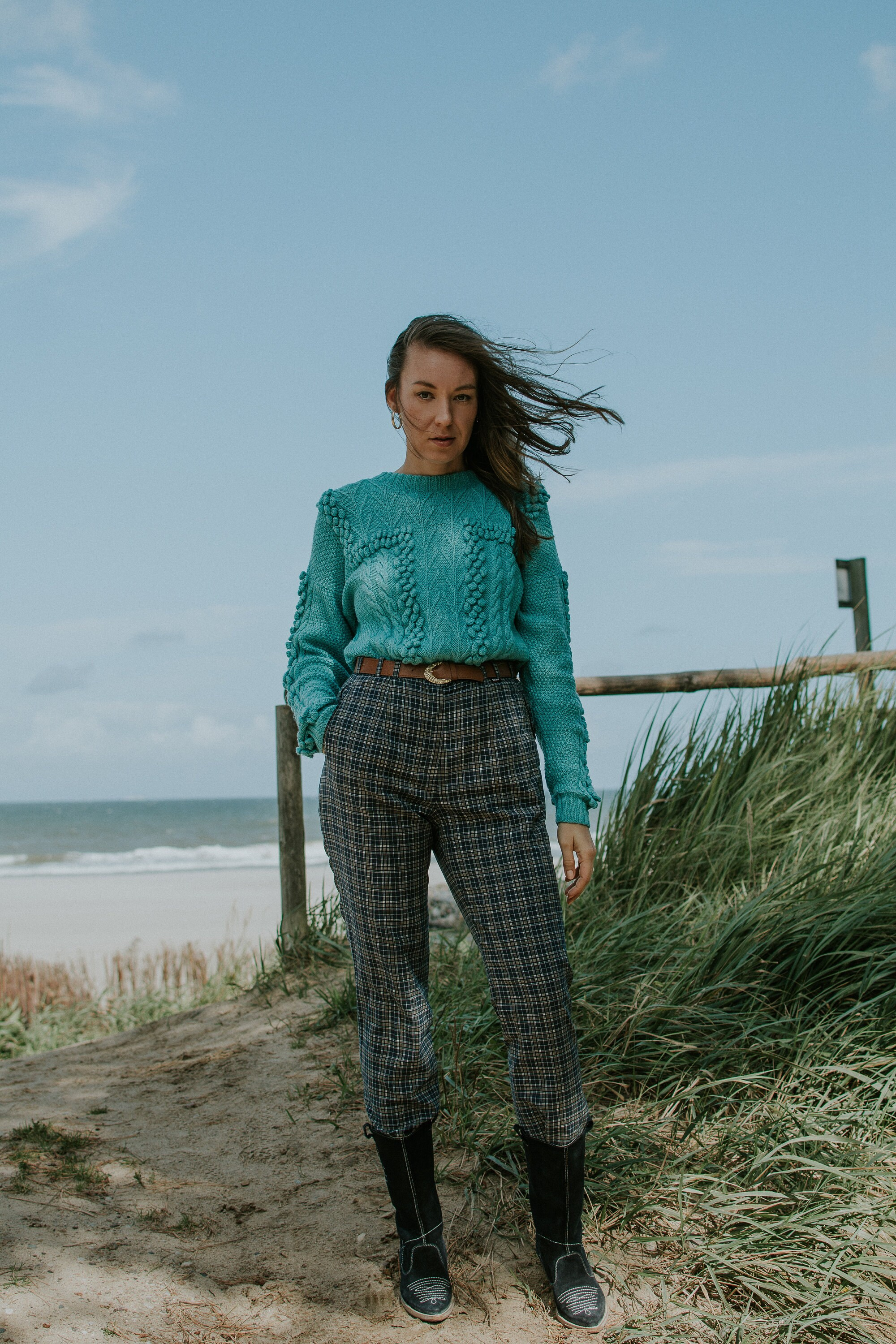 vintage turquoise sweater