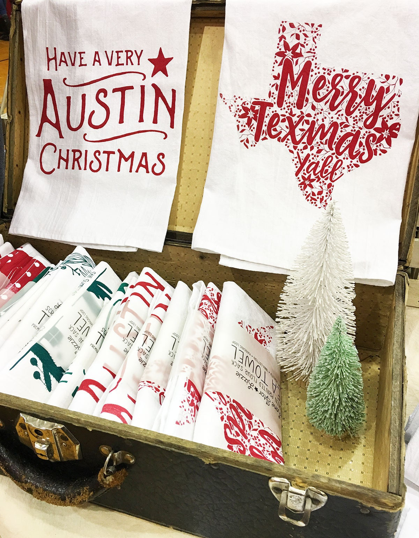 Christmas Flour Sack Tea Towels