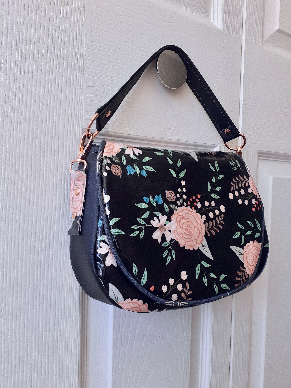 Serena saddle bag vinyl laminated cotton