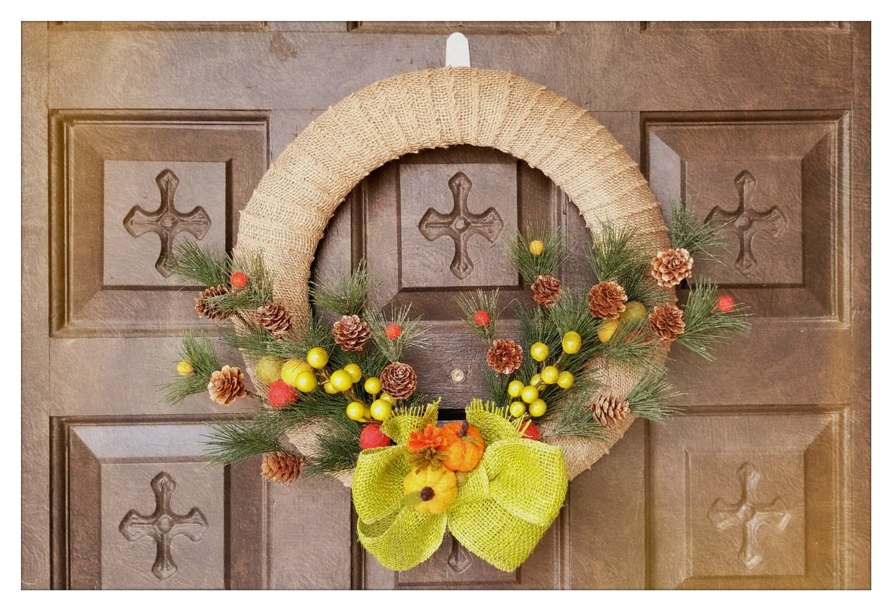 Last Minute DIY - Thanksgiving Wreath