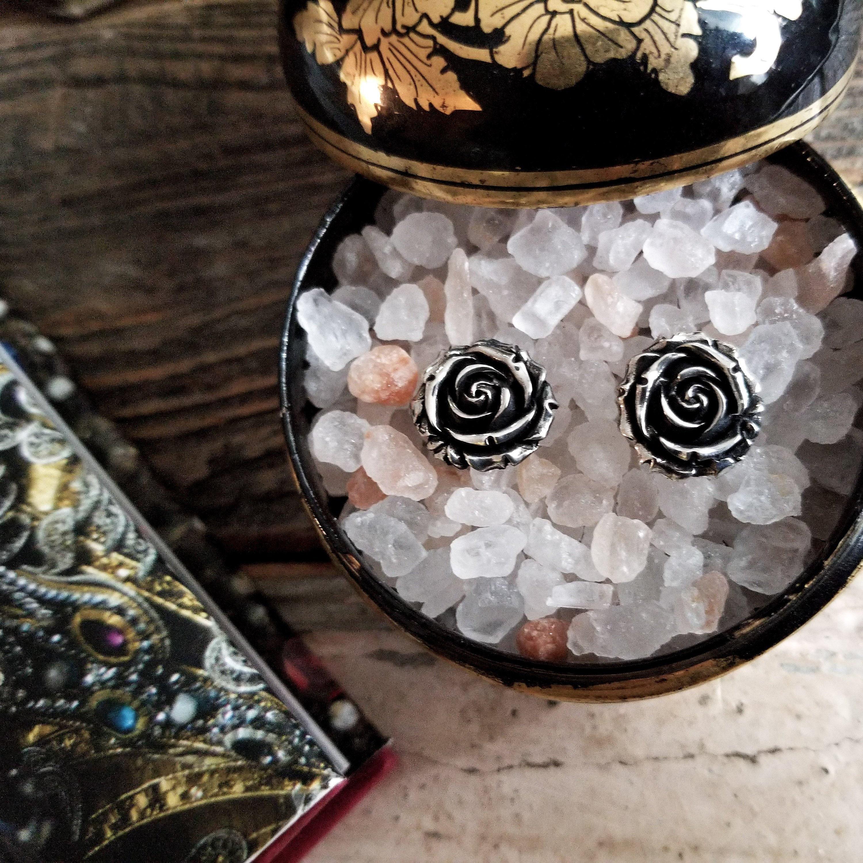 Inchoo Bijoux Holiday Gift Ideas Girlfriend Silver Rose Earrings