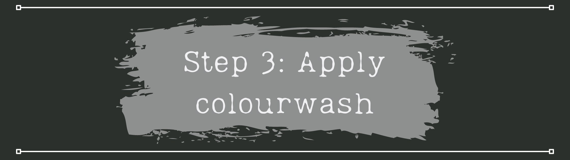 How to apply colourwash