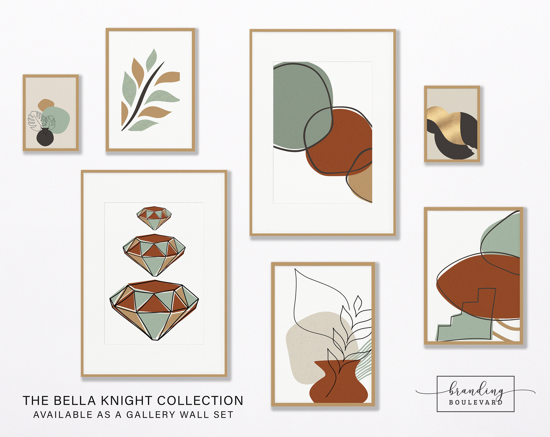 Mid Century Modern Gallery Wall Art Print Set - Bella Knight Collection