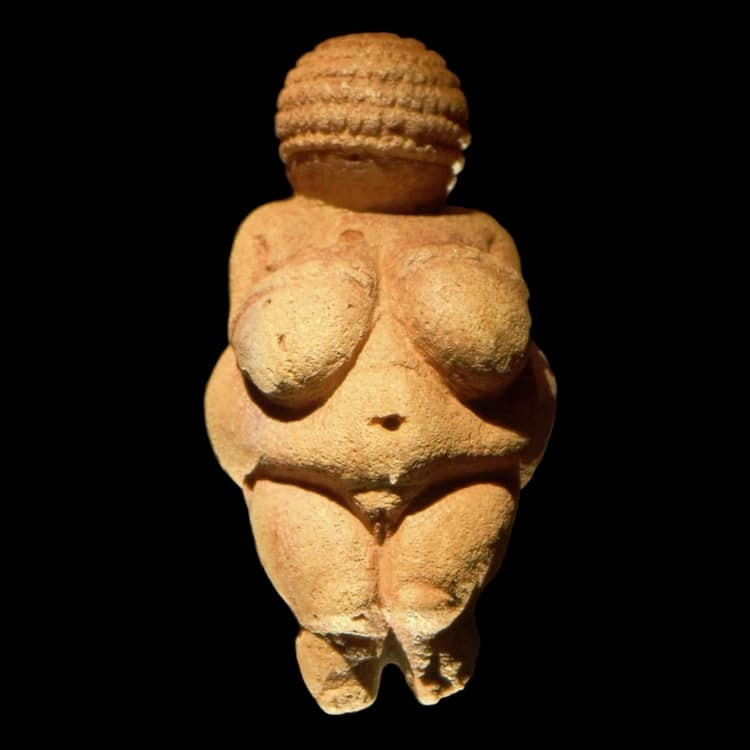 venus of willendorf, the oldest goddess fetish found