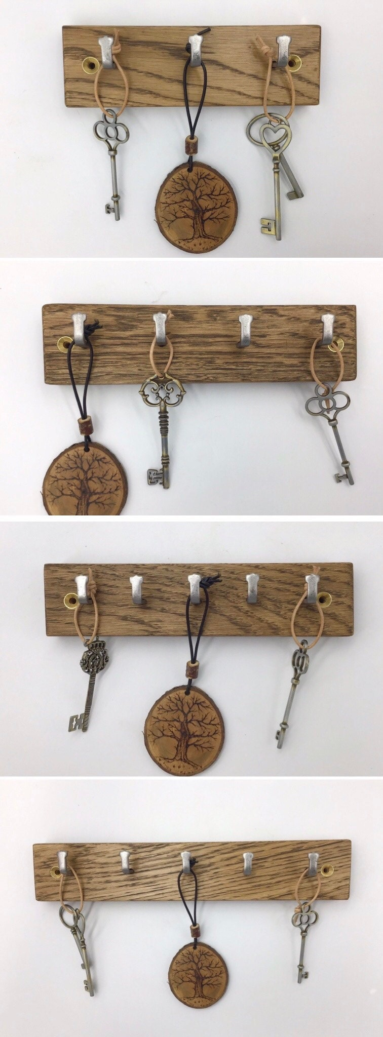 Gorlech dark Oak key racks