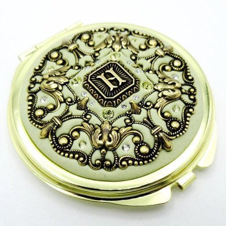 Inchoo Bijoux Holiday Gifts Mom Crystal Filigree Pocket Mirror