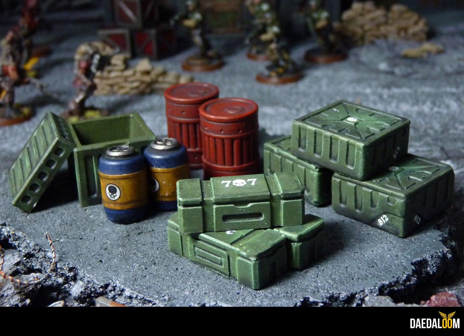 lot caisses et barils warhammer 40k