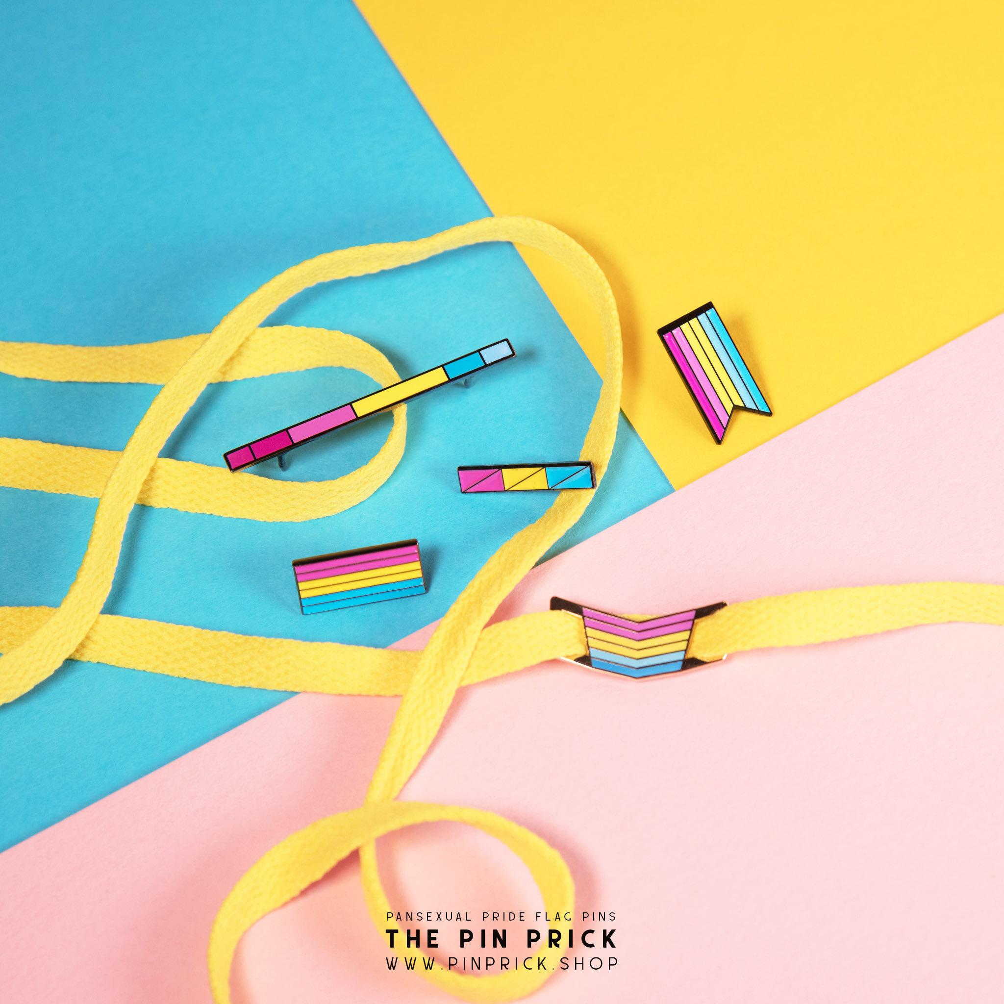 pansexual pride accessories enamel pins pan pride month