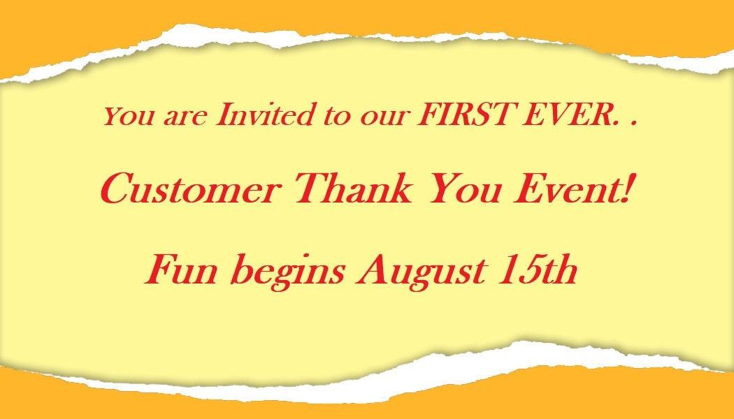 GiftsandHomeDecorUS Customer Thank You Event