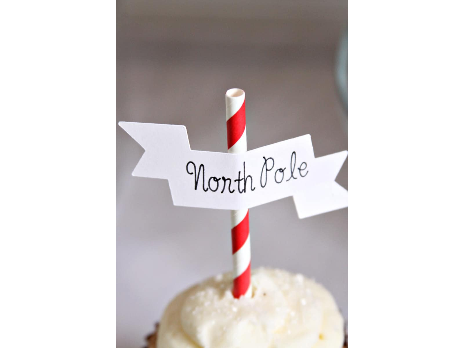 Polar Express Cupcake Toppers