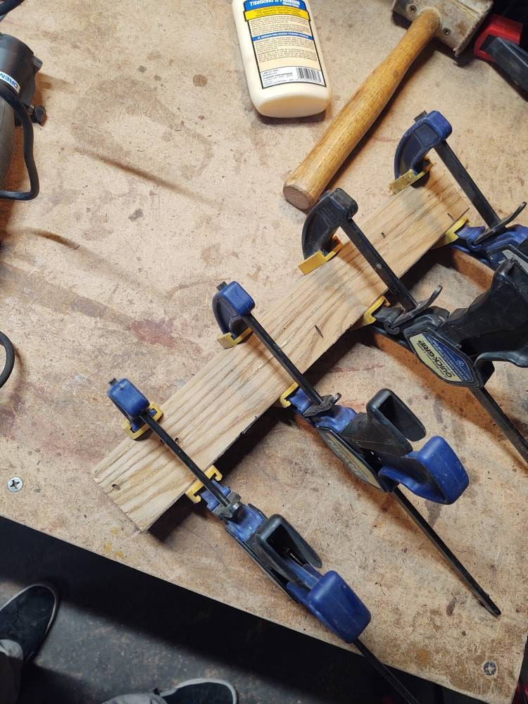Gluing the billet back together after carving the core grooves