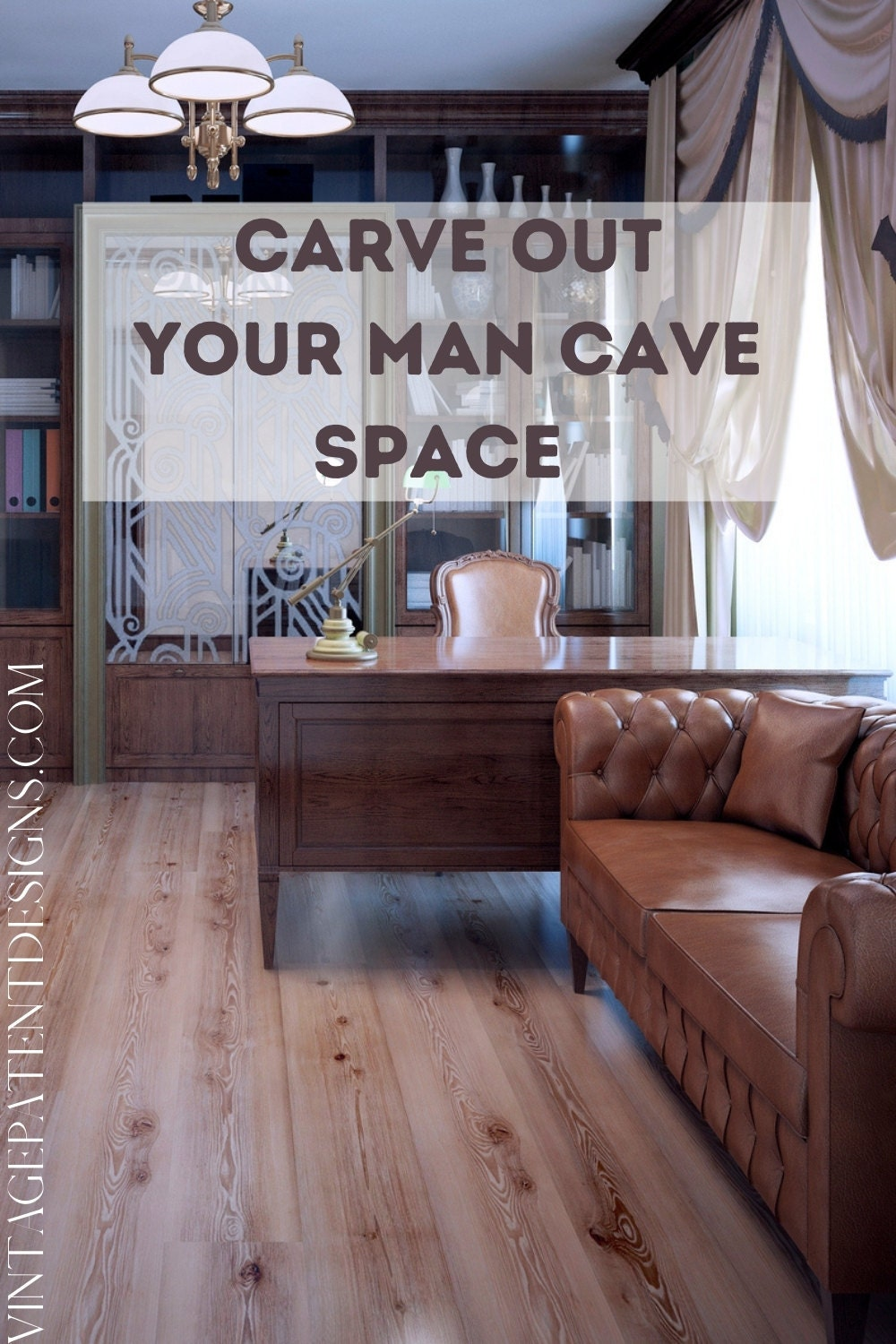 Maybe you have a whole room to carve out your man space?