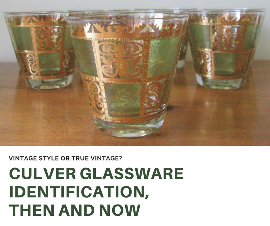 Culver Glassware Identification, Then and Now