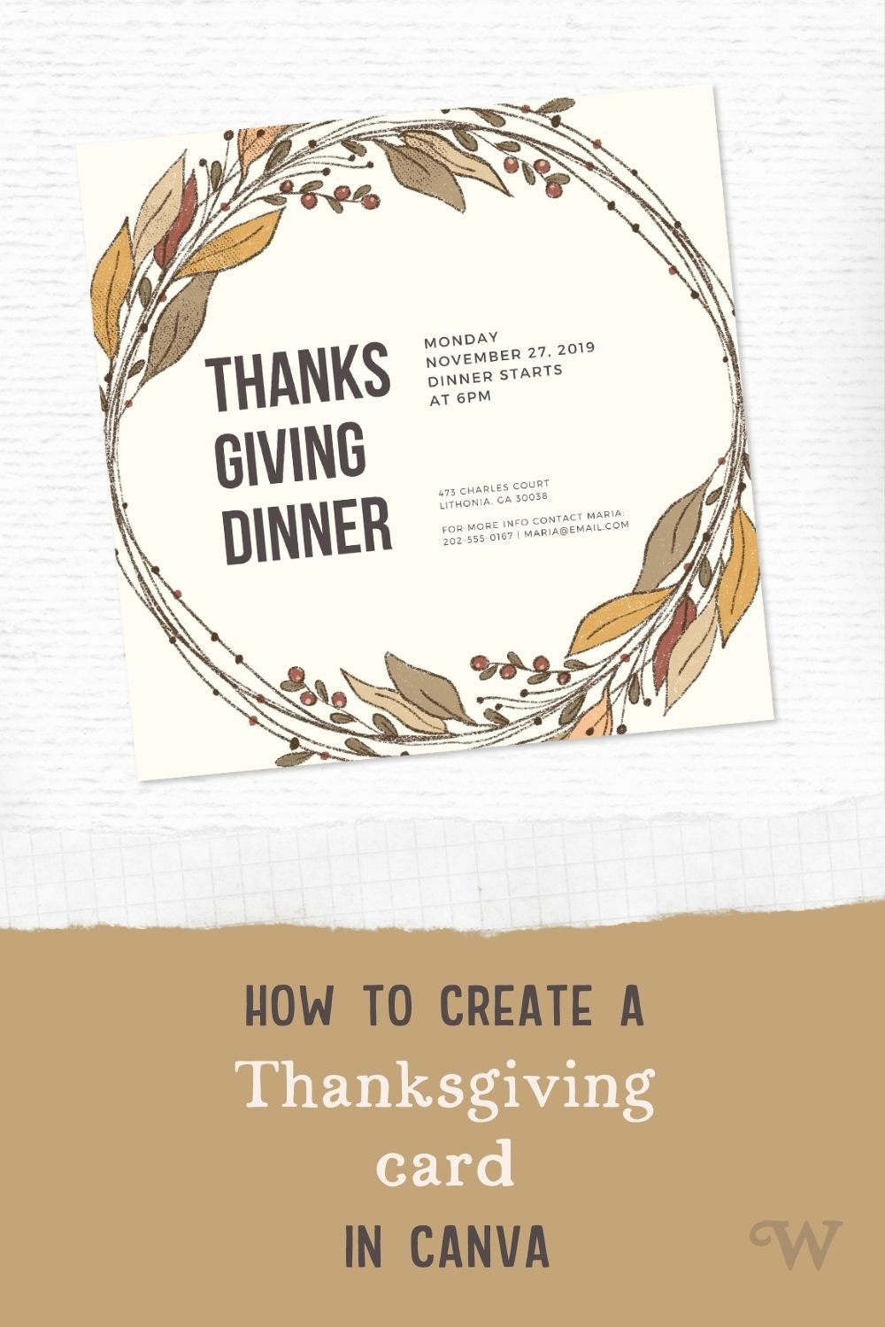Easy DIY Thanksgiving card tutorial