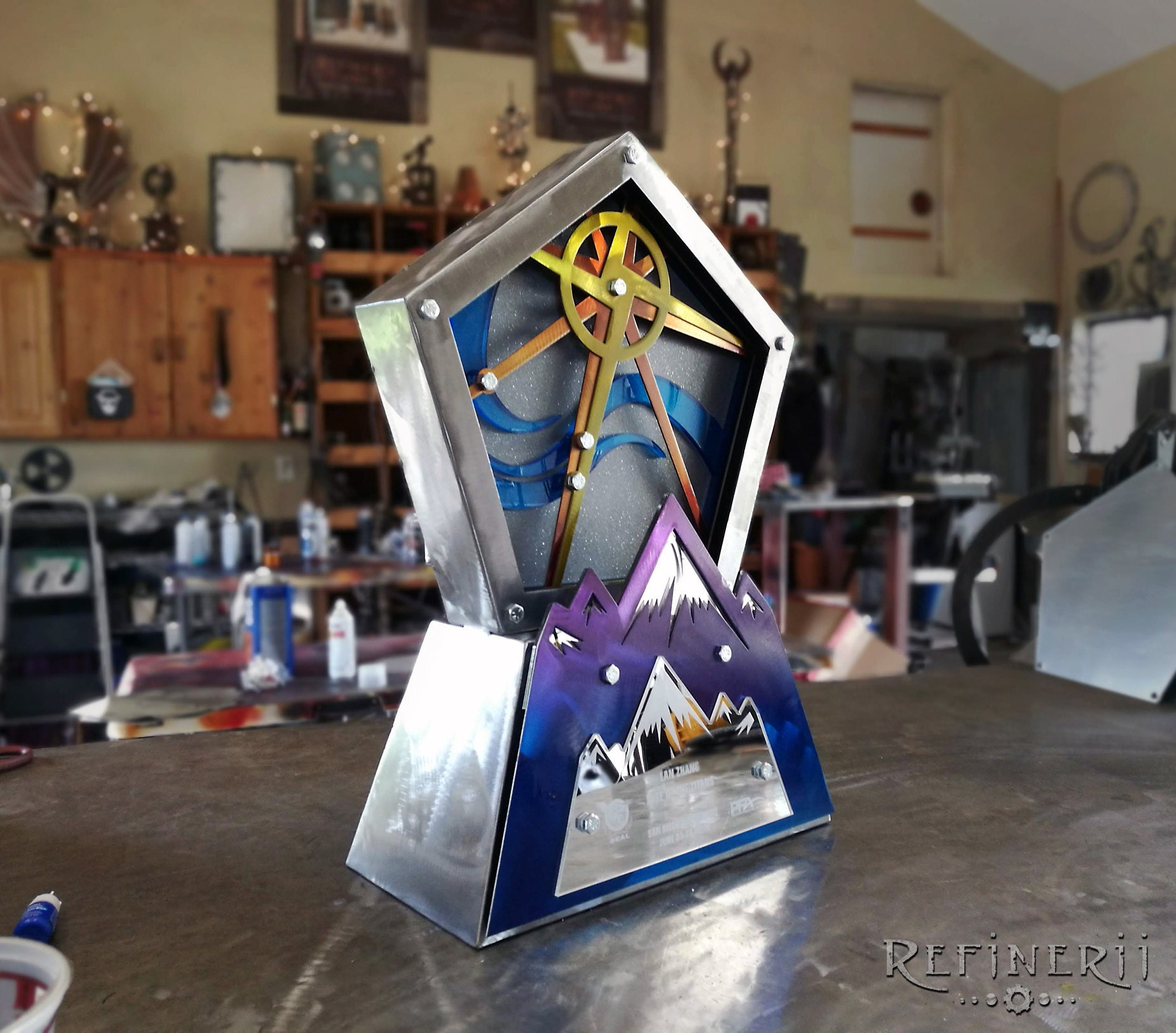 custom metal trophy award adventure