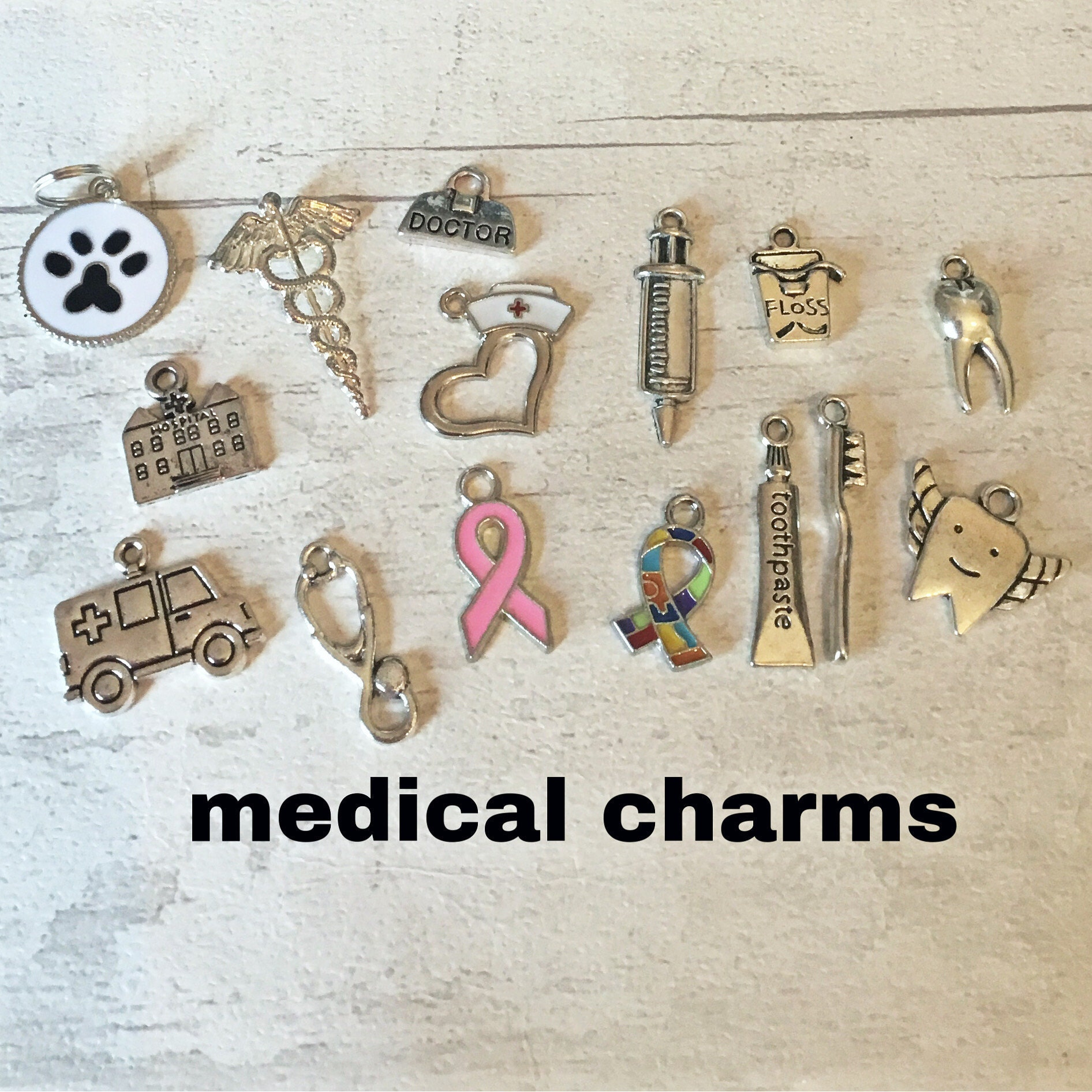 Medical themed charms