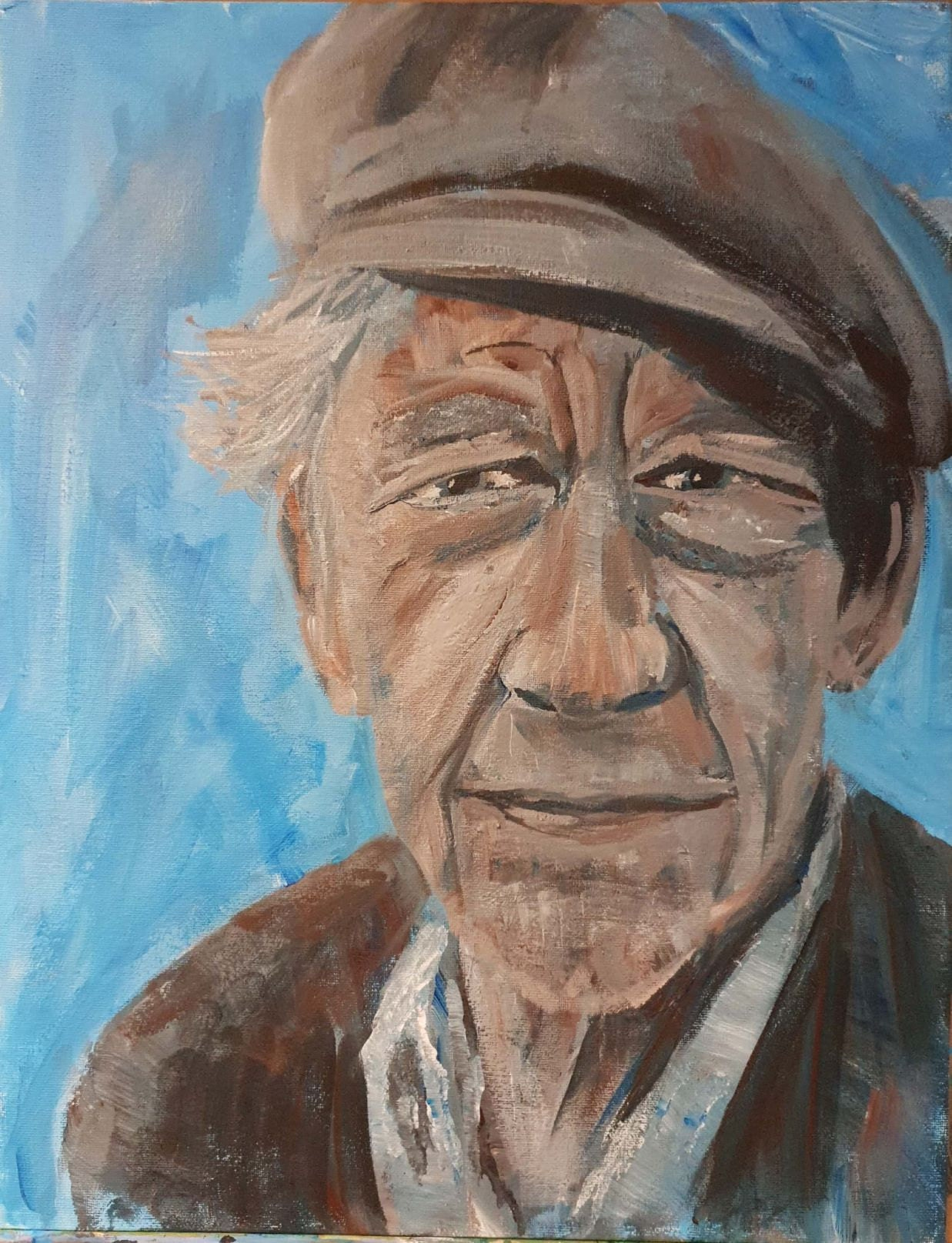 The lovely Sir Ian McKellan (Acrylic on canvas board)