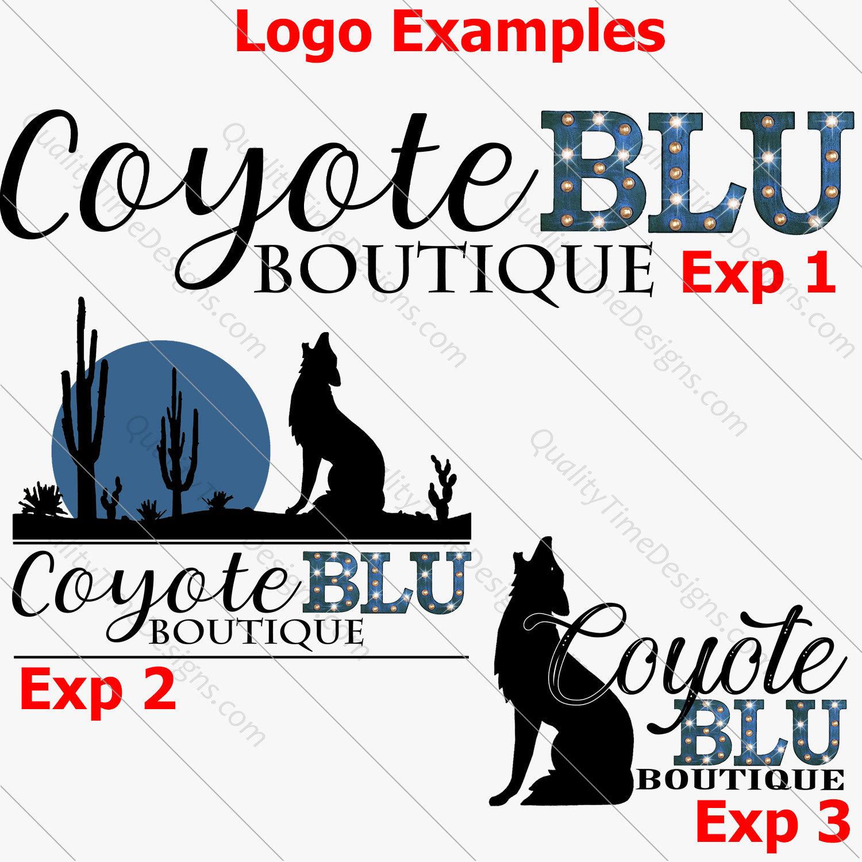 Custom Logo Design Package Designed For Coyote Blu Boutique