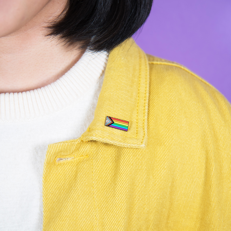 LGBT Rainbow Progress Trans Pride Flag Enamel Pin