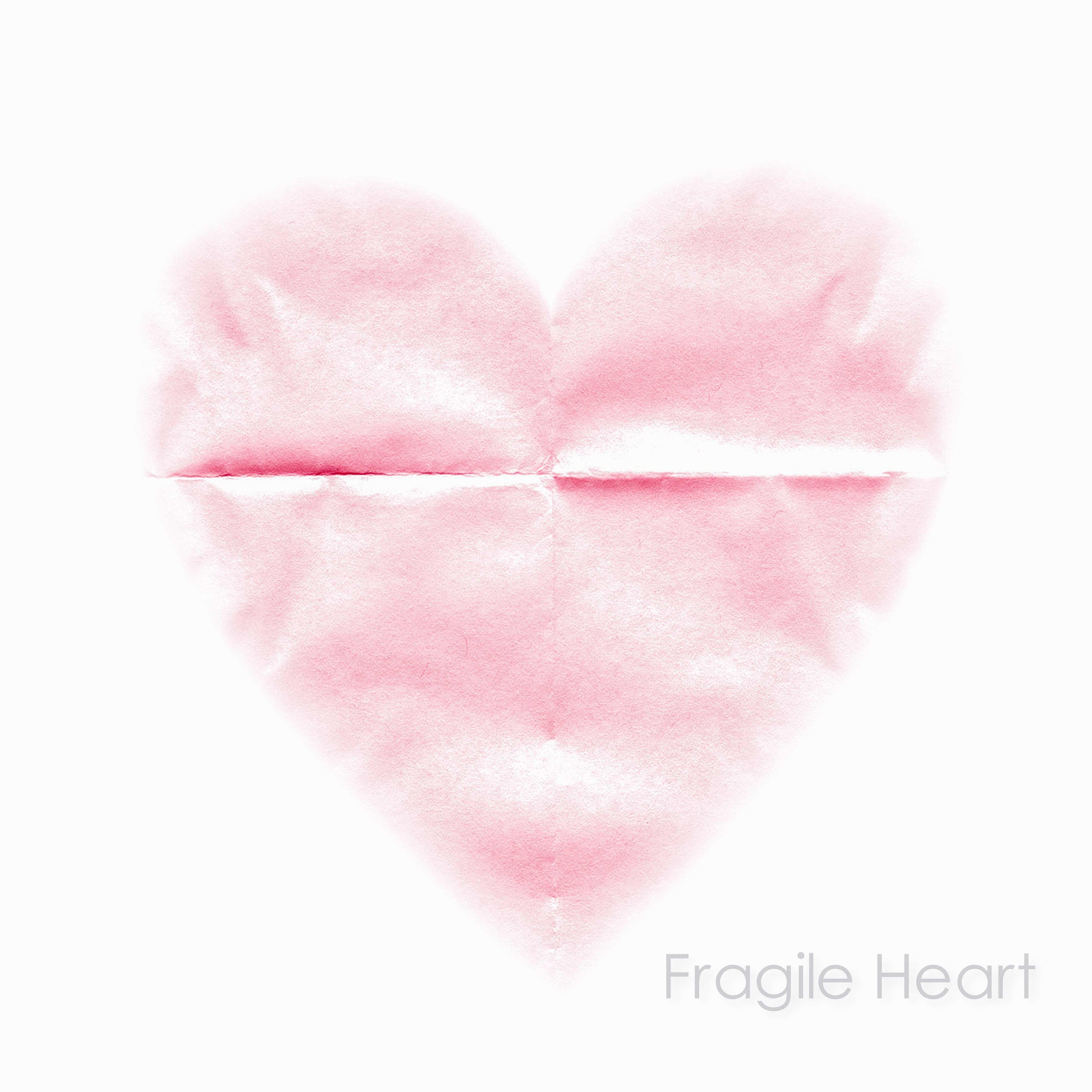 delicate pale pink heart wall art- calm love wall art- unframed limited edition love heart prints and wall art like art panel, canvas, and box frame
