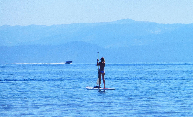 Paddleboarding, Lake Tahoe