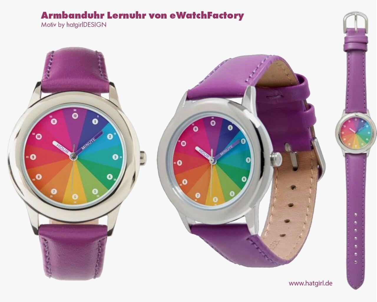 Lernuhr auf Nachfrage auch als Armbanduhr mit Gravur