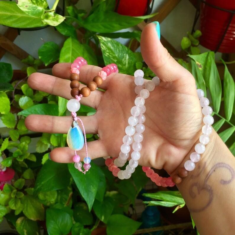 Collar Cuarzo Rosa Kandy Diseños