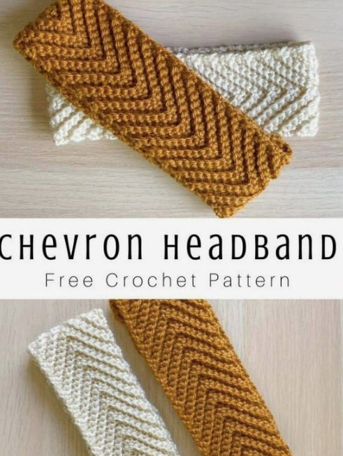 Chevron Headband Free Crochet Pattern