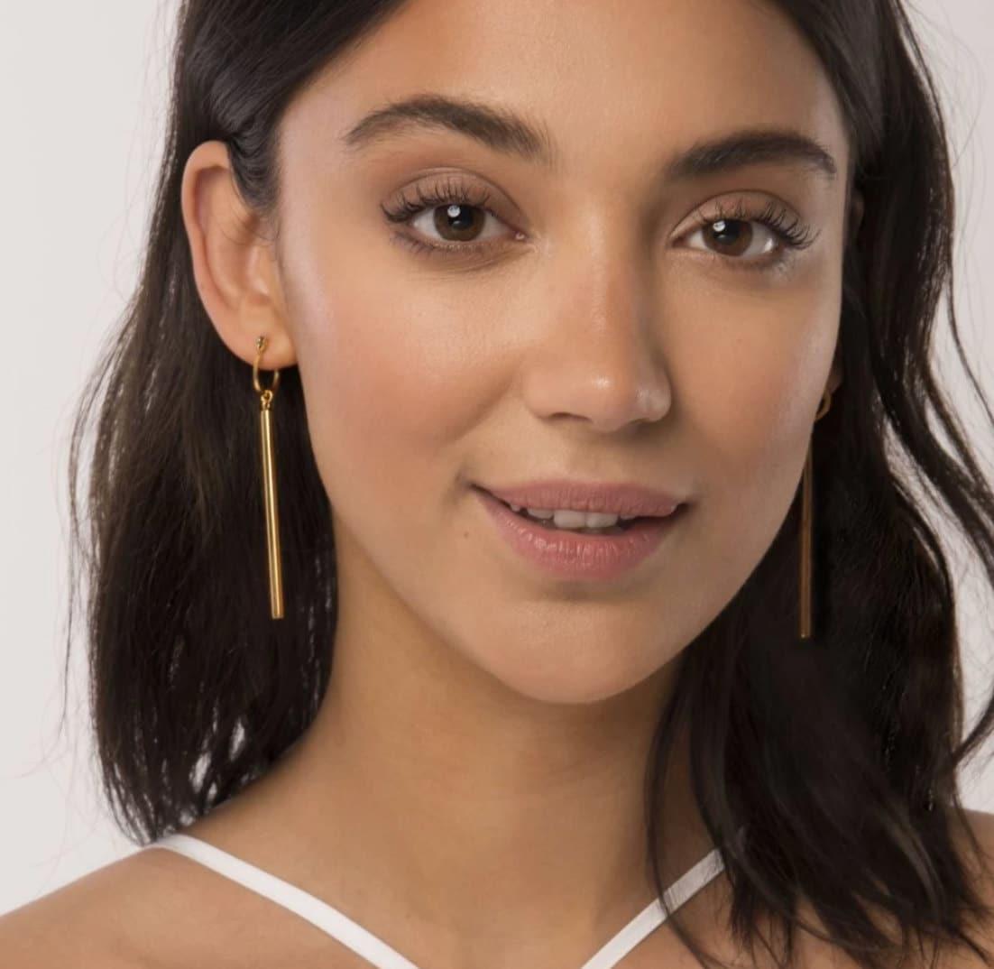 female founder collective brand, acouplepuns, raise the bar earings