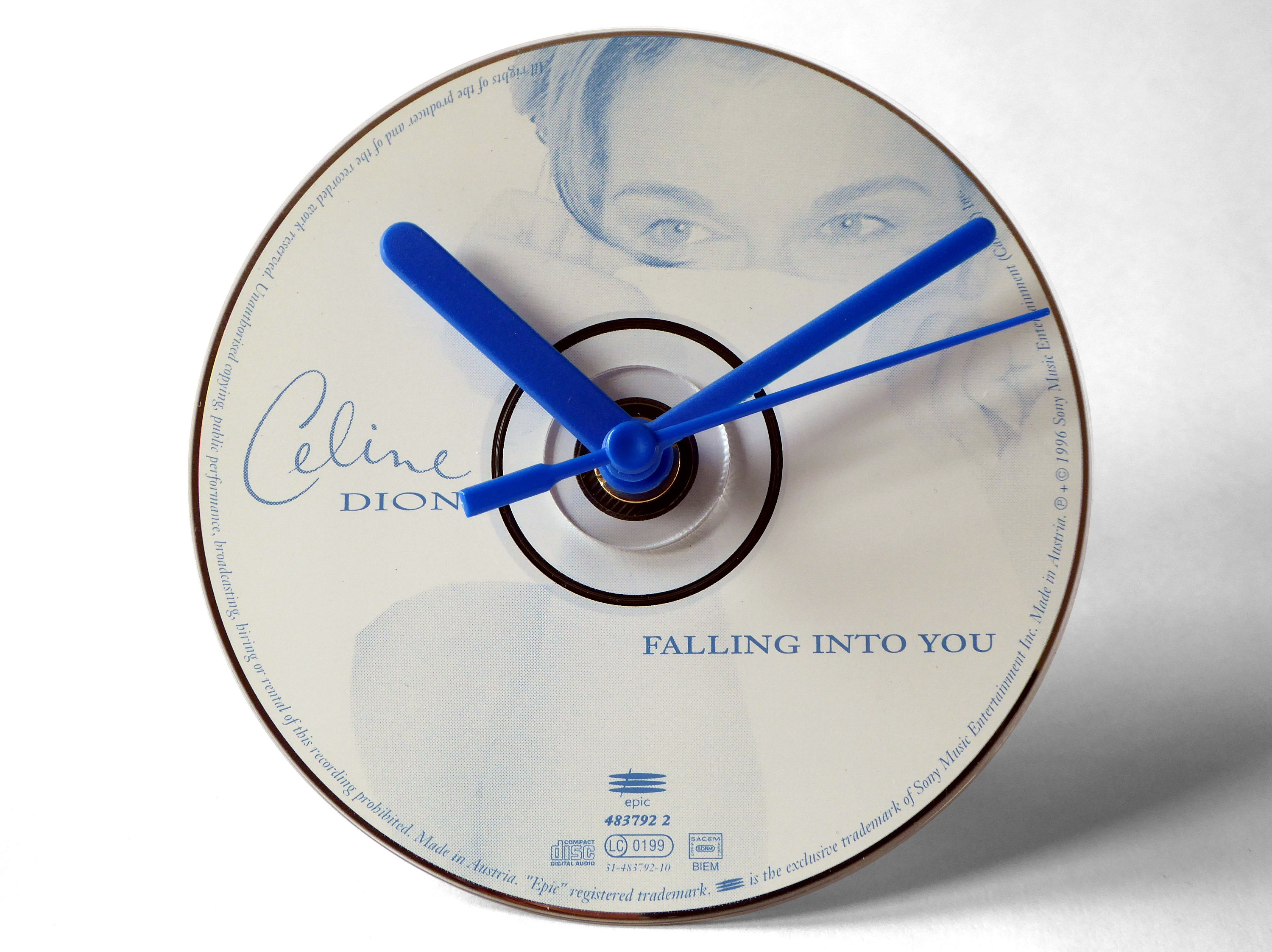 Celine Dion Falling Into You CD Clock and Keyring Gift Set