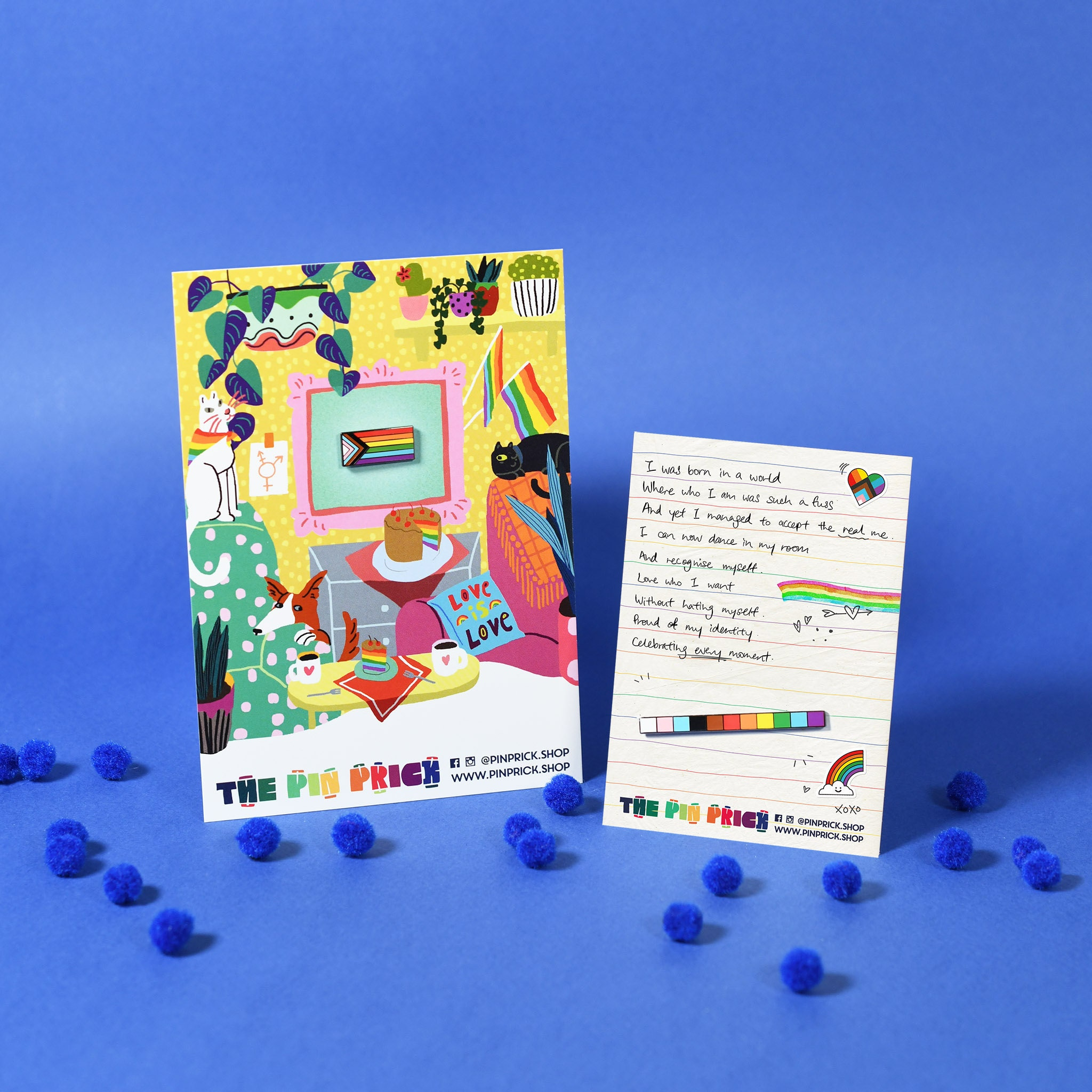 Ezra W Smith Emvie Backing Card Illustrator Gay Rainbow Pride Art Enamel Pin