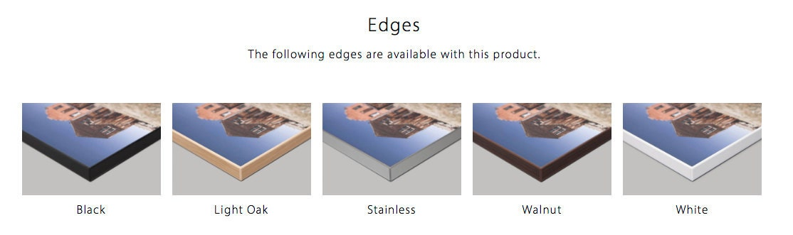 contemporary edge print wall art edge options