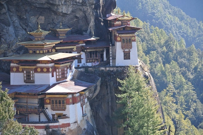 The famous Tiger's nest, hard to reach!