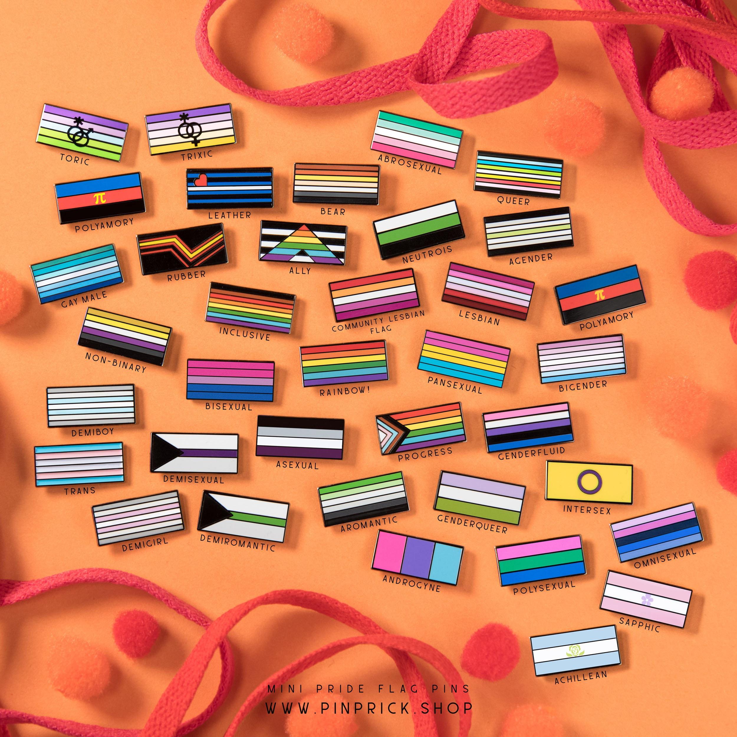 Subtle Minimalist Rainbow Gay Pride Flag Pins Pinprick Enamel Pride Accessories Christmas