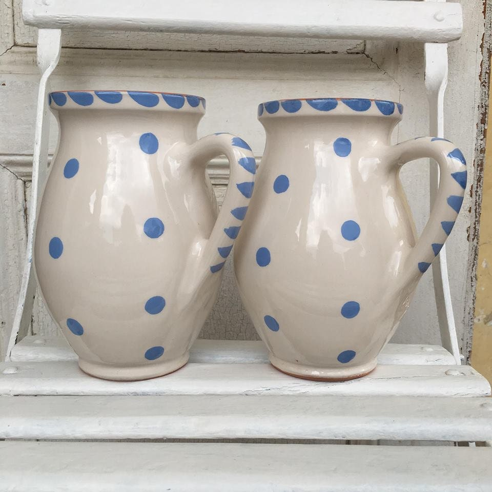 Hungarian polka dot jugs