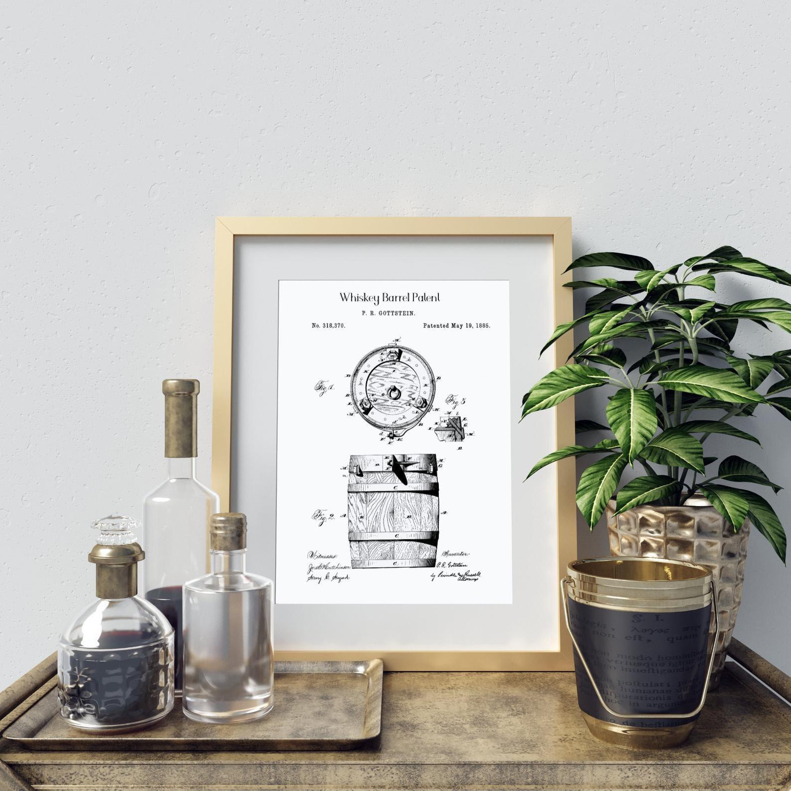 Whiskey barrel patent print