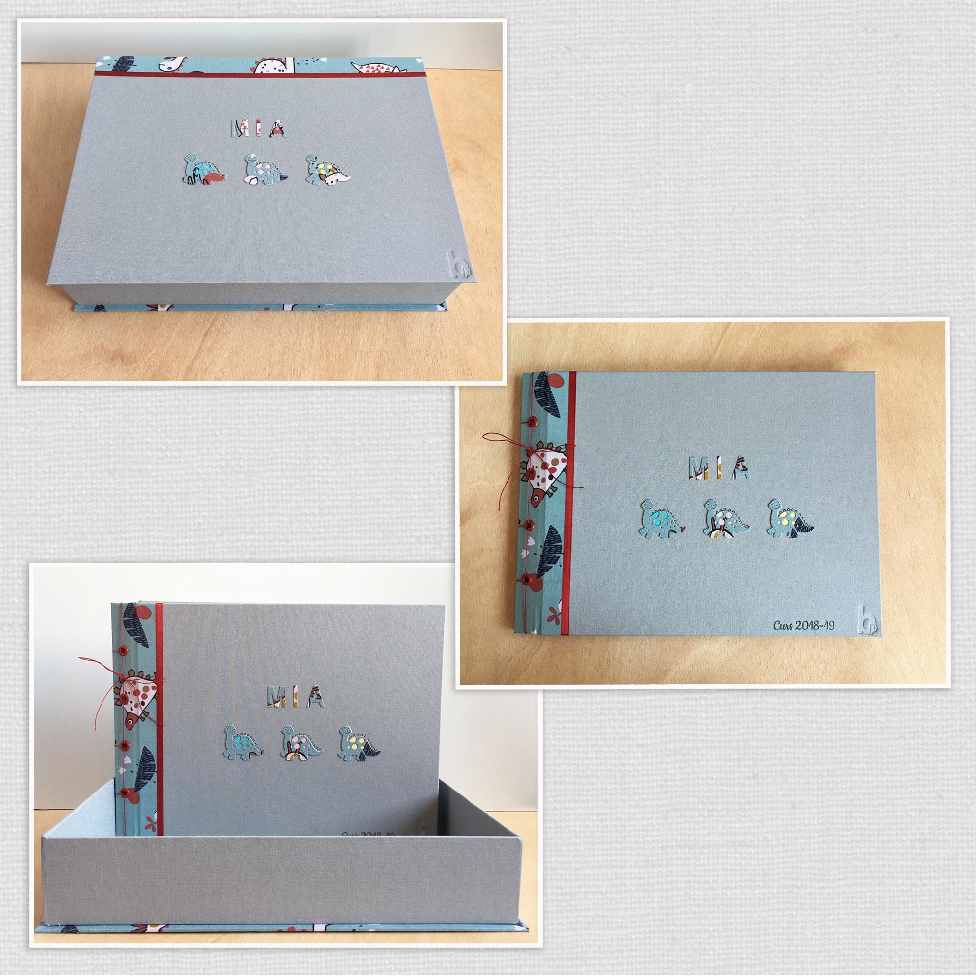 Imagen de un album que en su interior hay los dibujos de los alumnos