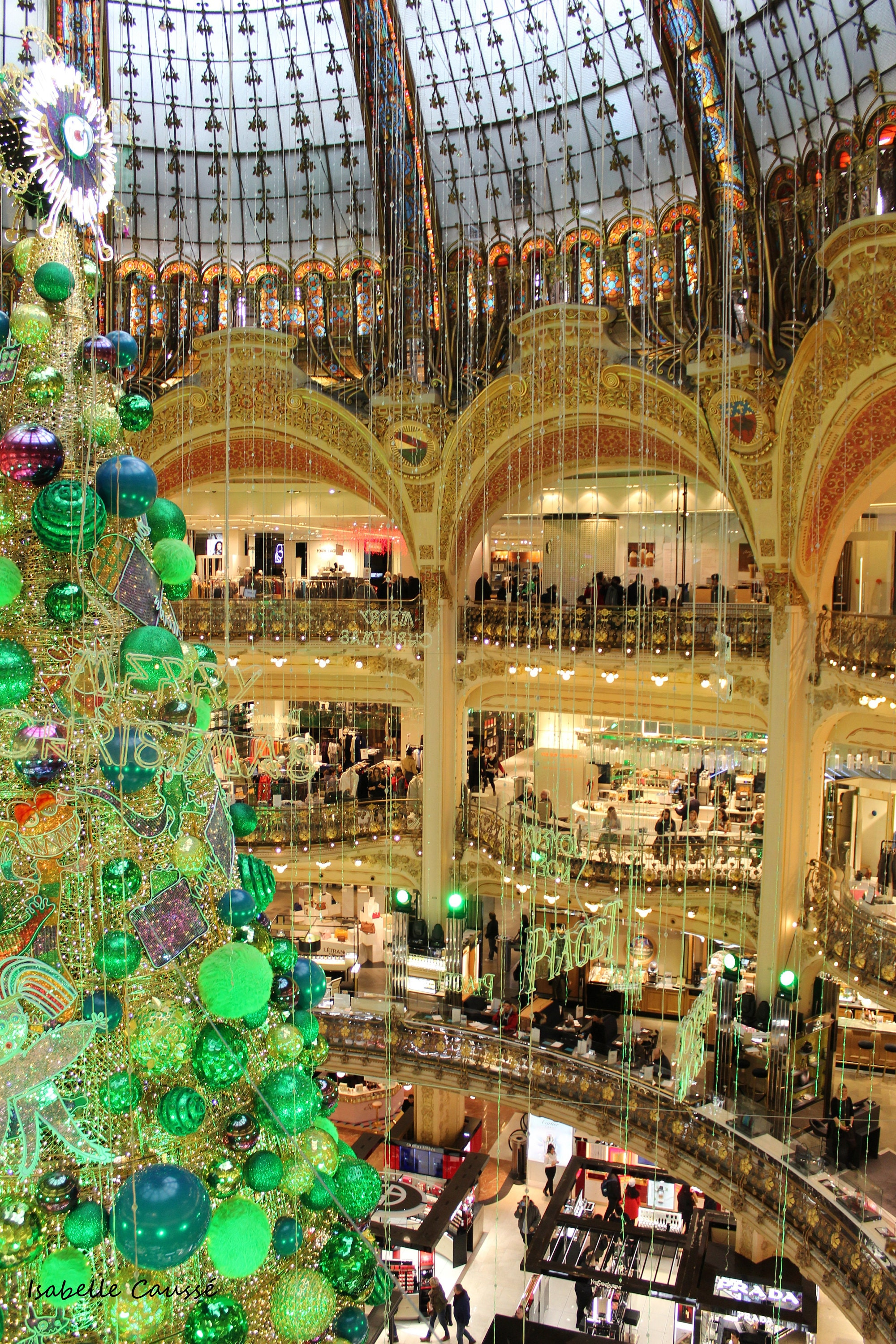 Christmas tree, Galeries Lafayette, Paris, 2018